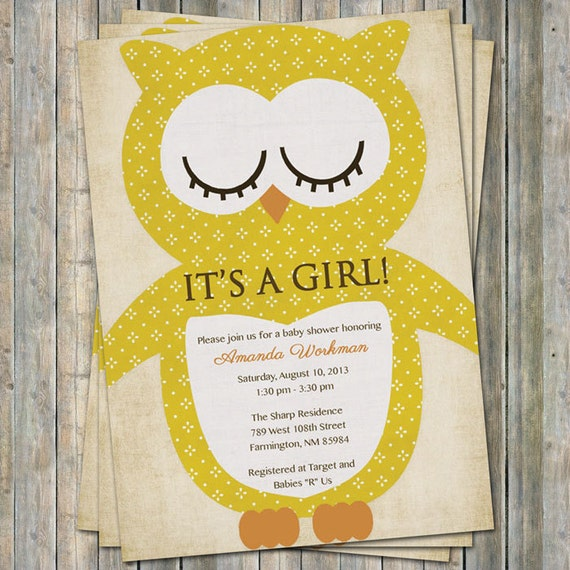 Owl baby shower invitations vintage feel printable file etsy image 0 filmwisefo