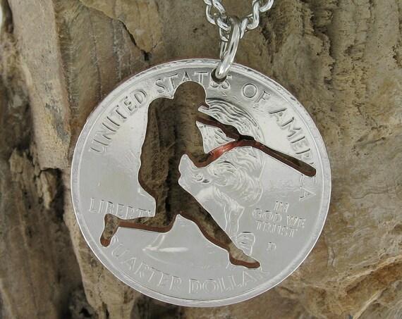 Baseball Design, Bunter, Hand Cut Coin