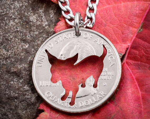 Chihuahua Necklace, Dog Jewelry, Hand Cut Coin