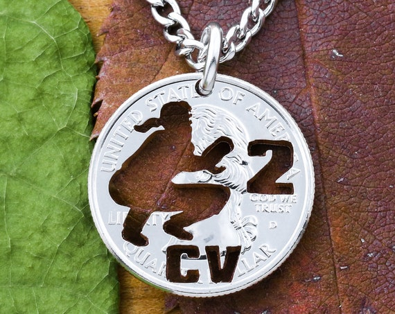 Female Baseball Catcher Necklace with Custom Jersey Number and Initials, Girl Catcher, Women's Sports Jewelry, Hand Cut Coin