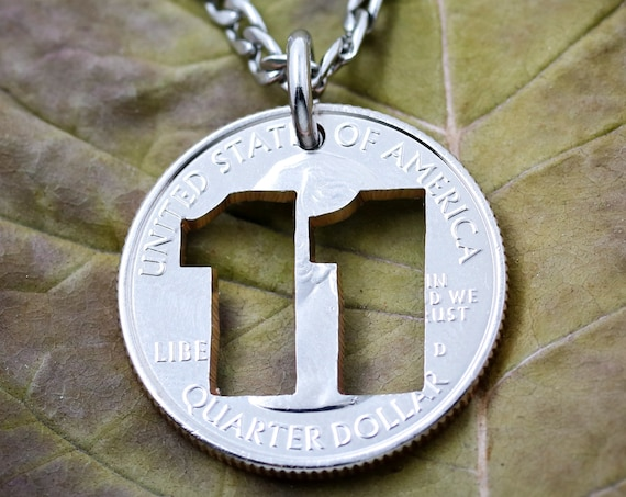 Custom Jersey Number Necklace, Number Jewelry, Sports Necklaces, Hand Cut Coin