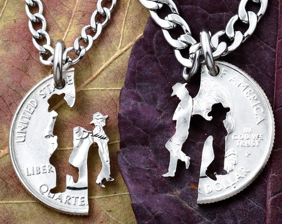 Cowboy Father and Son Necklaces, Western Jewelry