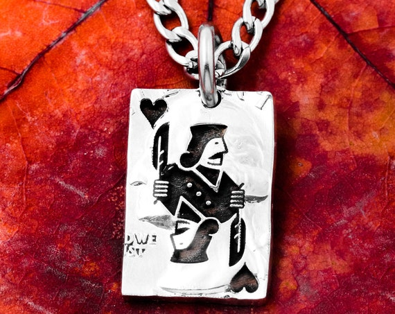 Jack of Hearts, Or Diamonds, Clubs, Spades, You Choose! Playing Card Necklace, Hand Cut Coin