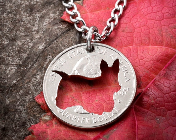 Yorkie Necklace, dog jewelry, hand cut coin