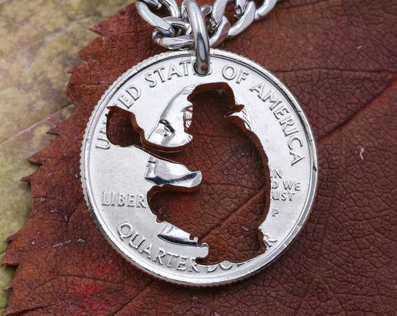 High School Baseball Catcher Necklace, Be the Catcher, Baseball Quarterback Coin