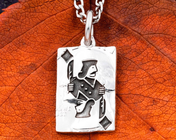 Jack of Diamonds, Or Hearts, Clubs, Spades, You Choose! Playing Card Necklace, Hand Cut Coin