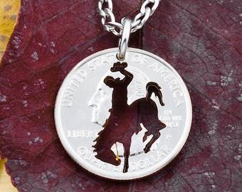 Antique Norwegian Fjord Horse coin necklace