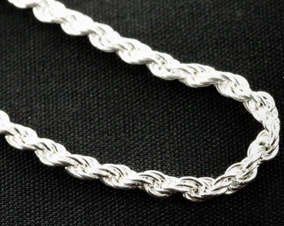 Sterling Silver Rope, 2.2MM 20 inches,  Chain Upgrade to go along with one of our pendants