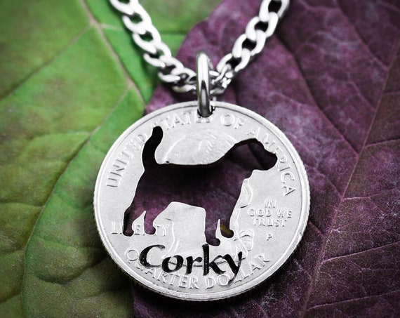 Pet Memorial Necklace, Custom Name and Pet, Dog memorial Jewelry, Pet Loss, Cat Memorial, Dog Lover Gift, hand cut coin
