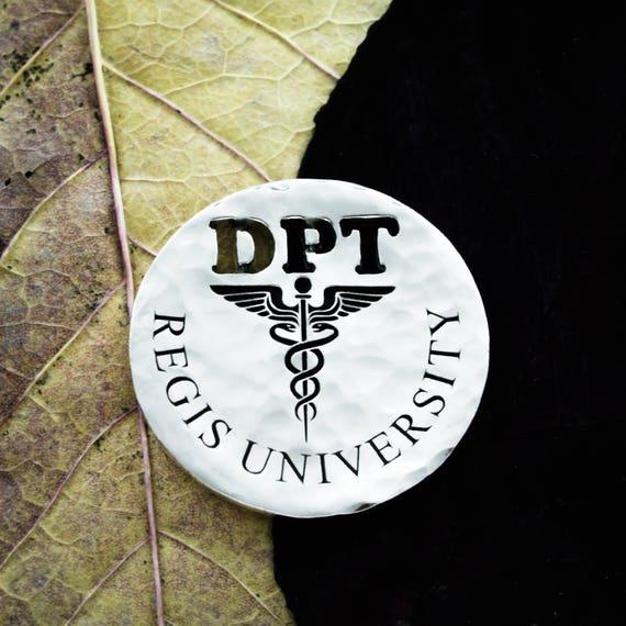 Silver Doctor Golf Ball Marker, Initials Engraved, Nurses or Doctors, Custom Medical University, Engraved Silver Quarter