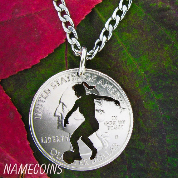 Woman's Soccer Necklace, Girls Sports Jewelry, Sports Gifts For Her, Hand Cut Coin