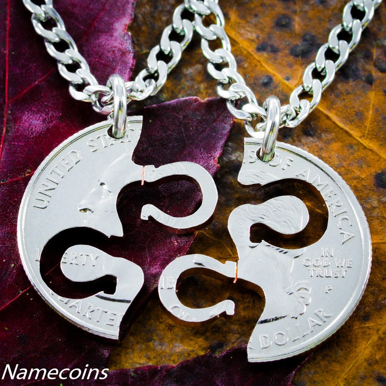 Horseshoe Necklaces for 2 Best Friend Or Couples Gifts Fits image 0