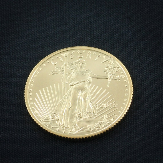 Personalized Gold Coin UpGrade, Gold American Eagle Coin, We will cut your design into this Gold Coin.