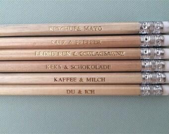 DU & I-pencils, guest gift for wedding