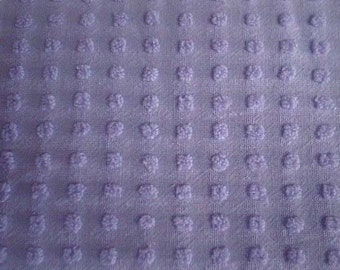 "Morgan Jones LAVENDER / PURPLE POPS Vintage Chenille Bedspread Fabric  - 19"" X 24"" - #1"