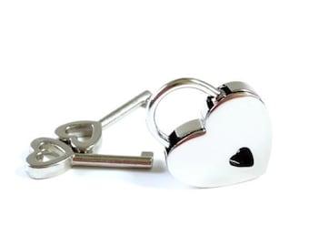 Small Heart Lock, Heart Shaped Lock, Engraved lock, BDSM Heart lock, Engraved Padlock, Heart Padlock, Engraved Heart lock, BDSM Collar Lock