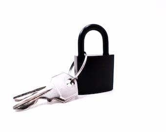 Black Lock Solid Brass Collar Lock