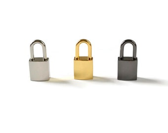 Silver Small Padlock - Submissive Collar Lock - Slave Collar Lock, Silver Lock - Collar Lock and Keys - Small Square Lock - Day Collar Lock