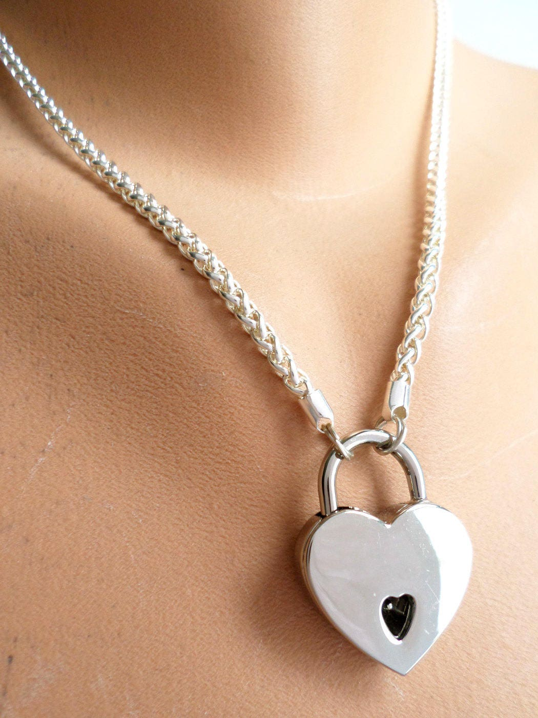 Silver Mini Padlock And Keys for Discreet Day Collar Necklace BDSM Collar DDLG or Submissive Collar