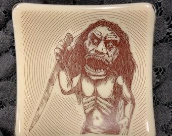 Zuni Doll Fused Glass Dish