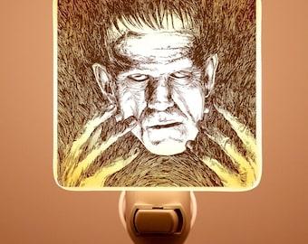 Frankenstein Fused Glass Night light