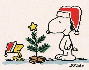 Christmas Snoopy.Snoopy Santa Claus Etsy