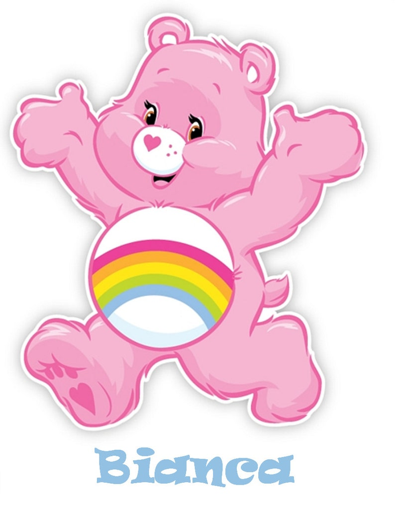 6900caa2128 Cheer Bear All Color Fabric Iron on Transfer Care Bears Pink