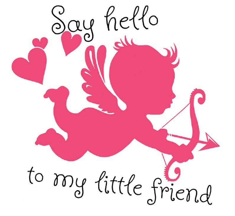 Mon Ami À Valentin Dis En Bonjour Cupidon FerEtsy Petit Saint La kZOPXui