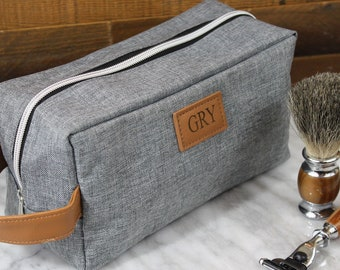 3b8d71322bf6 Gray toiletry bag | Etsy