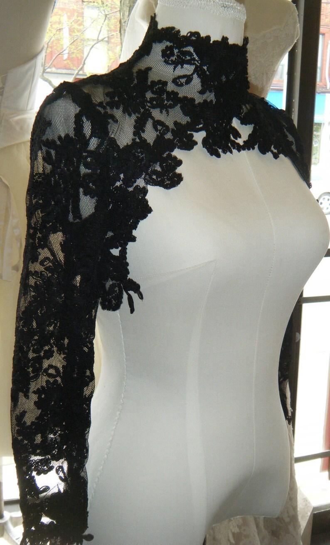 quality design 8e287 96dcc Bolero in pizzo Couture,,, alta moda, pizzo nero