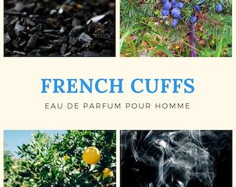 French French Cuffs Perfume Sample for Men: Smoky. Woody. Resinous. Phthalate-Free. (Excellent Wedding Favor Idea!)
