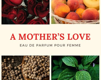 A Mother's Love Perfume Sample for Women: Rose. Mint. Peach. Musk. Phthalate-Free. (Excellent Wedding Favor Idea!)