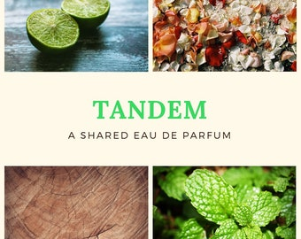 Tandem Gender-Neutral Perfume Sample: Clean Mojito. Alluringly Intriguing. (Excellent Wedding Favor Idea!)