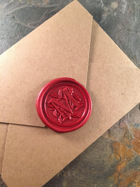 Classic M monogram wax seal stickers