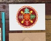 Oak Hex Sign- Blank Greeting Card