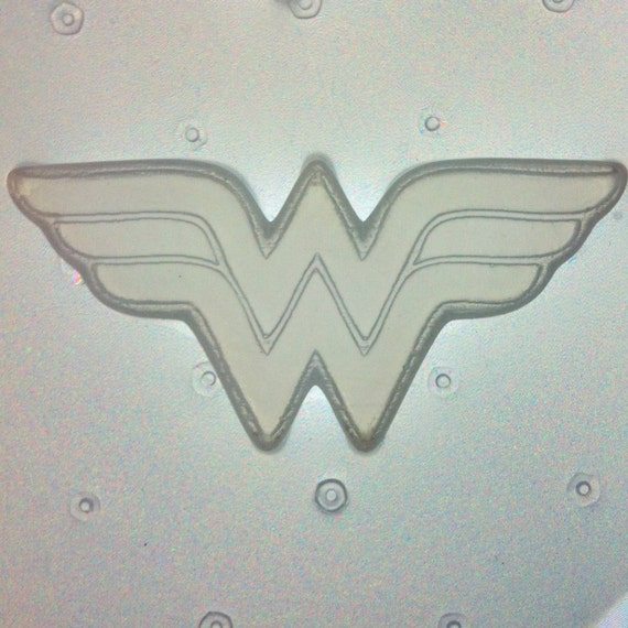 Flexible Resin Mold Woman Super Hero Logo Mould