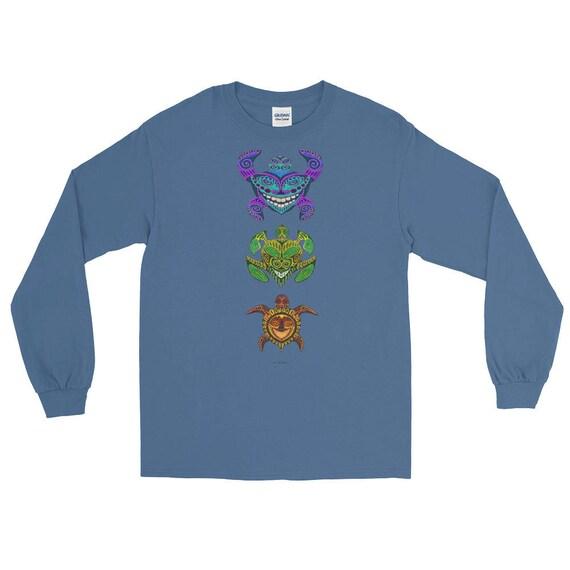 Coool chats TRIBAL tortues TRIBAL chats VERTICAL à manches longues T-Shirt  6f02ff ... c03c3d5efff0