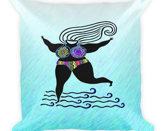 Coool Cats GODDESS Square Pillow