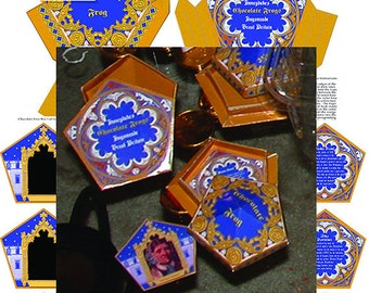 photo regarding Printable Chocolate Frog Cards identified as Chocolate frog Etsy