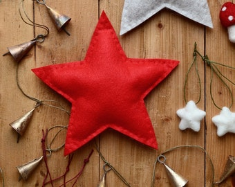 Personalised Christmas Star Tree Topper - Choose Your Colour