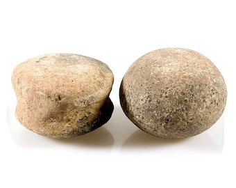 Two Old Dogon African Potter's Stones Tools Artifacts, Mali