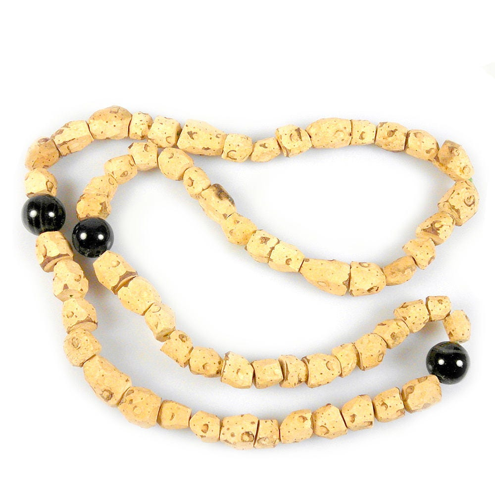 Cork Beads: West African Natural Cork Beads Necklace For Nursing