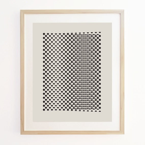 Geo Motion 3 - Geometric Pattern Screenprint. Art Poster Print.