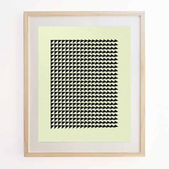 Geo Motion 1 - Geometric Pattern Screenprint. Art Poster Print.