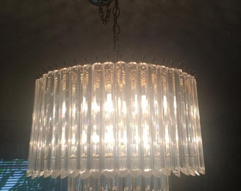3ca79415b74c IT S A WIDE WORLD   Clear And Bright Modern Lucite Two Tier Chandelier    20