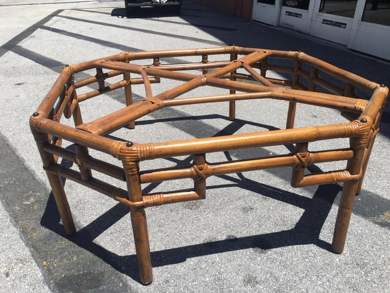 Fretwork Coffee Table.Octagon Wild Natural Color Rattan Ficks Reed Coffee Table With Matching Octagonal Glass Top Geometric Fretwork Table