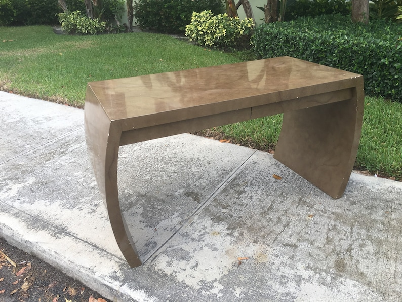 WATERFALLING IN LOVE  Enrique Garcel Or Style Waterfall Desk  Two Drawer Modern Desk  Console Or Hall Table