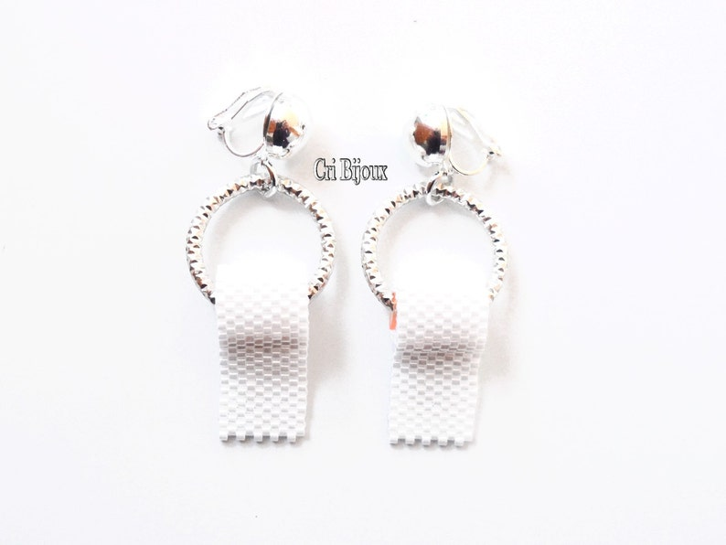 PRIORITY MAIL SHIPPED top selling items clip on earrings hoops funny jewelry joke gift friends gifts toilet paper jewelry Awesome Jewelry