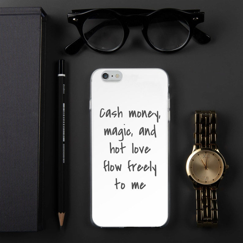 Cute iPhone Case with Affirmation Mantra, Customizable IPhone Case with  Personalized Affirmation or Mantra, Money Magic Love, Mantra Gift