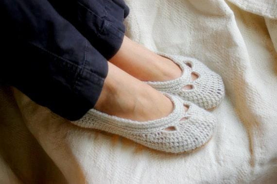Womens House Slipper Crochet Pattern For Yoke Ballet House Etsy
